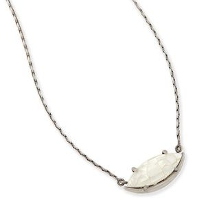 KS Meghan Necklace in Crackled Ivory Pearl!!